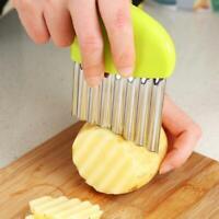 Stainless Steel Potato Wavy Cutter Vegetable Fruit Knife Slicer Kitchen Tool HS3
