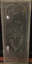 Acid etched stained glass window