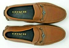 COACH Crosby Turnlock Loafer Men's 9 Light Brown Leather Driving Shoes G1127
