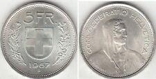 Monnaie Suisse 5 francs argent 1967 B