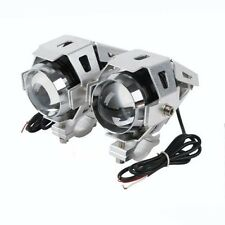 125W Motorcycle CREE U5 LED Driving Headlight Fog Lamp Spot Light Silver 1 Piece