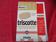 TRISCOTTE  L'ALSACIENNE BOITE  CARTON VINTAGE 70's memorabilia advertising food