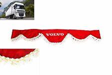 LKW Frontscheibenborde Frontscheibenverzierung Gardine Vorhänge ROT für VOLVO
