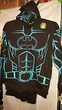 Youth Boy's BATMAN HOODIE JACKET SWEATSHIRT with CAPE Costume New New SZ X Large