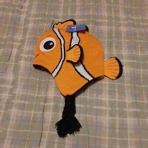 Disney Pixar Finding Neno Orange Kids Knit Hat, NWT