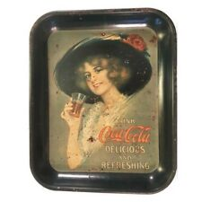 Vintage COCA-COLA Soda Antique METAL Serving Tin Trays Original  Collectible