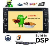 Android 9.0 Double 2 Din Car DVD Player Radio Stereo Head Unit GPS SAT NAV DAB+E