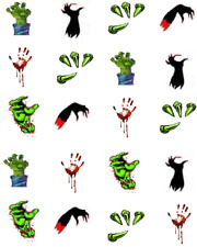 Halloween Monster Hands Waterslide Nail Decals/Nail art