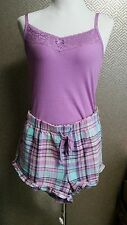 Jenni by Jennifer Moore 2PC Cotton Pajama Tank Top and Shorts L