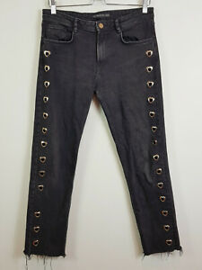 ZARA | Womens Back Jeans w/ metal Hearts detail [ Size AU 10 or US 6 ]