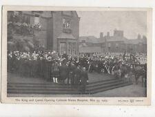 King & Queen Opening Colinton Mains Hospital 1903 Edinburgh Postcard  656b