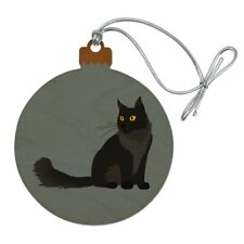 Maine Coon Cat Wood Christmas Tree Holiday Ornament