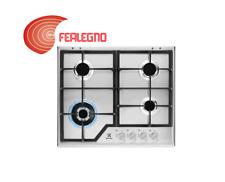PIANO COTTURA A GAS INOX 60CM COMANDI FRONTALI 4 FUOCHI KGS6436SX REX ELECTROLUX