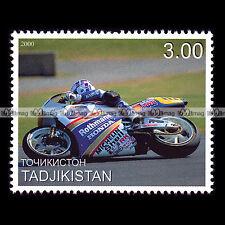 ★ WAYNE GARDNER (HONDA NSR 500) ★ TADJIKISTAN Timbre Moto Motorcycle Stamp #337