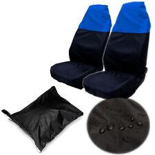 2x Universal Waterproof BLUE BLACK Front Seat 1Pair Covers Protector for Car Van