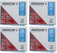 Arrow Fastener 508 Genuine T50 1/2-Inch Staples 4 PACKS OF 1250
