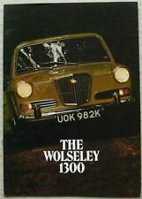 WOLSELEY 1300 Car Sales Brochure Aug 1971 #2852