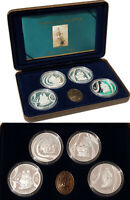2002 MASTERPIECES IN SILVER 4 $5 Proof Coin Set Voyages into History Total 4oz