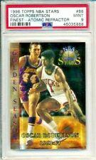 1996 Topps NBA Stars Oscar Robertson PSA 9 MINT Bucks Atomic Refractor #88