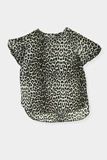 Womens New Look leopard pattern semi sheer blouse top Size 14
