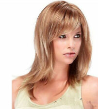 FIXSF647 fancy charm straight brown mix blonde fashion hair wigs for women wig
