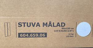 IKEA STUVA Malad Tür Front weiß 60 x 128 cm Griff + Scharniere 604.659.06 NEU
