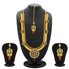 Sukkhi Glimmery Gold Plated  Temple Jewellery Coin Long Necklace Sets(2154NGLDPL