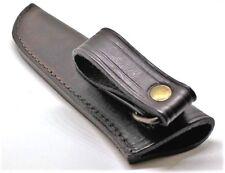 Messerscheide Leder dunkelbraun Länge: 185 mm Trageschlaufe Lederscheide Scheide