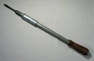 Vintage North Bros. Phila. PA. USA Yankee 131A Spiral Ratchet Push Screwdriver
