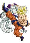 STICKER POSTER MANGA DRAGON BALL Z.SANGOKU-SON GOKU SUPER SAYAN VS FREEZER 100%.