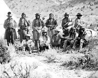 PAH-UTE INDIAN GROUP NEAR CEDAR, UTAH IN 1872 - 8X10 PHOTO (AB-200)