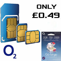OFFICIAL O2 NETWORK PAY AS YOU GO 02 SIM CARD SEALED UNLIMITED CALLS AND TEXTS*