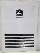 John Deere Windshield Kit Installation Instructions Manual