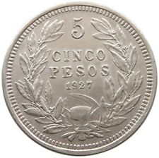 CHILE 5 PESOS 1927 PATTERN KM-Pn49 EXTREMLY RARE #t84 111