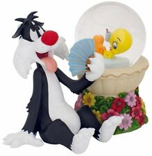 Lenox Tweety Bird Summer Sizzle Snowglobe & Sylvester Figurine Led Lighted New