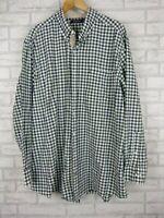 Nautica shirt men's size 2XL blue white green check print long sleeve