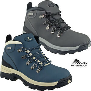 Ladies Womens Waterproof Hiking Boots Leather Lightweight Trekking Trainers Size