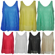 Women's Sleeveless V Neck Semi Fitted Vest Top, Strappy, Cami Tops & Shirts