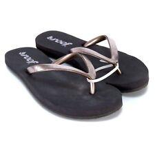 Reef Womens Sandals Size 5 Brown Beach Summer Flats Flip Flops
