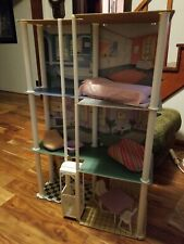 Barbie 3 Story Furnished Townhouse 3764 table chairs bed elevator