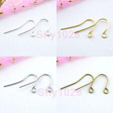 100Pcs Earring Ear Wire Hook 21mm,Silver,Gold,Bronze R5061