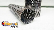 Perforated Silencer Resonator Repair Section Stainless Steel Exhaust Pipe Tube