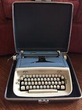 1950's Royal Safari Baby Blue Magic Margin Typewritter and Hard Case