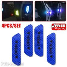 Blue 4PCS Super Car Door Open Sticker Reflective Tape Safety Warning Decal HOT @