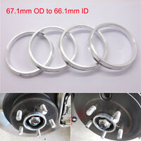 4pcs Car Wheel Hub Centric Spigot Rings 67.1mm OD to 66.1mm ID Aluminium Alloy