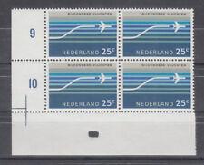 NEDERLAND Luchtpost NVPH LP 15 in blok van 4 met pons 3 MNH postfris