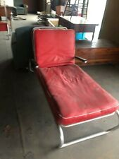 Mid century modern MCM chaise lounge aluminum wheeled mint condition