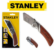 Stanley Wooden Work Folding Trimming Pocket Utility Lock Knife 010073 NO BLADE