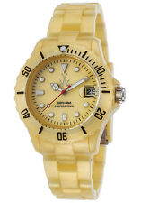Toy Watch Plateramic Gold Dial Plastic Quartz Ladies Watch FLP16GD