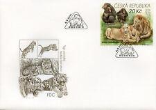 Czech Republic 2017 FDC Zoos II Hodonin Zoo Lions Monkeys 1v Set Cover II Stamps